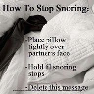 snoring and pillows