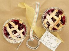 """Cherry Pie-in-a-Jar...i'm going to start doing this as dessert for the """"meals for mom's"""" program at church..."""
