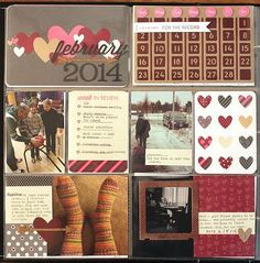 February 2014 Layout by Heather Nichols for Papertrey Ink (February 2014)