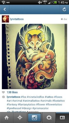 different style of fox tattoo... look at all those tails!