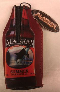 Alaska Summer Bottle Coozie / Koozie with zipper - beautiful graphics