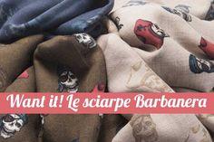 sciarpa con i teschi di Barbanera #scarves #skulls #madeinitaly #menstyle