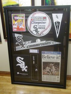 Custom framing celebrating the Chicago White Sox!