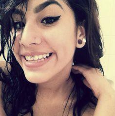Smiley / double plugs / nose hoop . Smiley Piercing, Piercings, Nose Hoop, Septum, Plugs, Pearl Earrings, Pearls, Jewelry, Peircings