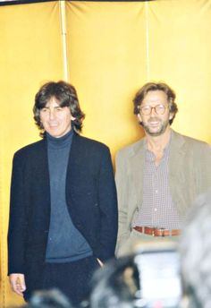 I love this photo of Eric Clapton and George Harrison together.