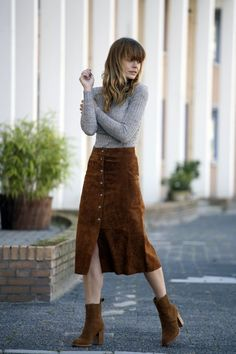 THE SUEDE MIDI SKIRT                                                                                                                                                                                 More