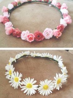 Coroa de flores!
