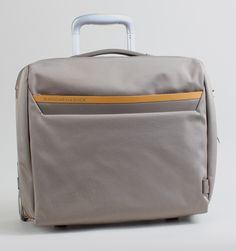 "Mandarina Duck Work Rolling 15"" Laptop Pilot Trolley - Grey"