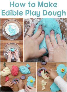 Make edible play dough with Kool Aid