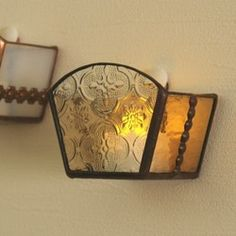 Geometric Lamp, Stained Glass Lamps, Wall Lights, Sparkle, Creema, Projects, Winter, Decor, Parapsychology