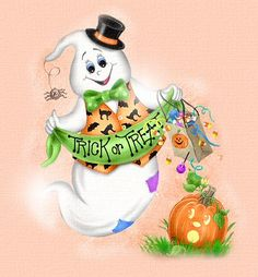 Cloudeight Funletters, Art courtesy of Penny Parker Happy Halloween Gif, Halloween Rocks, Halloween Cartoons, Halloween Drawings, Halloween Painting, Halloween Clipart, Halloween Pictures, Halloween Ghosts, Holidays Halloween