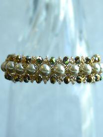 Handmade Wire, Handmade Jewelry, Swarovski, Beaded Bracelets, Beads, Gold, Fashion, Bracelet, O Beads