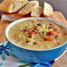 Ham and Potato Soup with Leeks Recipe