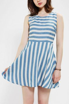 Pins And Needles Cutout Back Stripe Dress