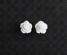 White Rose Flower Girly Plugs  6g 4g 2g 0g  Pick Your by ryarr