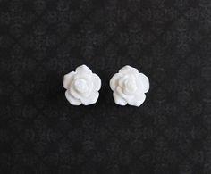 White Rose Flower Girly Plugs  6g 4g 2g 0g  Pick Your by ryarr