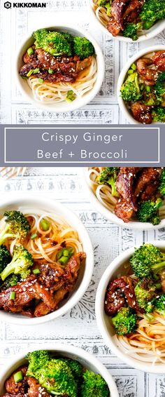 Fakeout Crispy Beef with Noodles Crispy Ginger Beef and Broccoli Asian Recipes, Beef Recipes, Cooking Recipes, Healthy Recipes, Soup Recipes, Recipies, Great Recipes, Dinner Recipes, Favorite Recipes