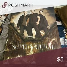 """Supernatural Poster 24"""" by 36"""", ripped a little at the bottom, but not bad condition over all Hot Topic Other"""