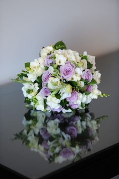 Bouquets and Boutonnieres Purple Wedding Bouquets, Wedding Flower Arrangements, Bride Bouquets, Flower Centerpieces, Rose Bridal Bouquet, Bridal Flowers, Country Wedding Decorations, Marie, Wedding Blog