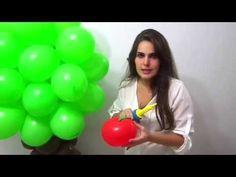 Aprenda como fazer uma árvore de balões.