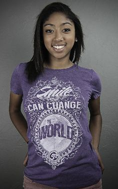 Help give a child a smile! Proceeds from this smile shirt will help provide a clef pallet surgery for a child who wants a smile!!   http://www.541threads.com/#!product/prd1/952873534/smile!-women's-crew-neck