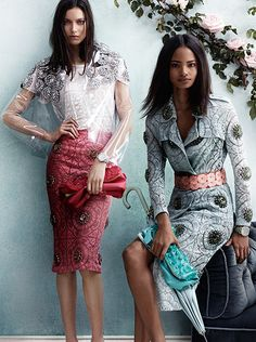 Petals Gems - the new Burberry Prorsum campaign featuring the runway bag, crystal gem embellishment and English lace Fashion Images, I Love Fashion, Fashion Details, Fashion Design, Style Work, My Style, Cool Outfits, Fashion Outfits, Womens Fashion