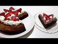 TORT / PRAJITURA cu Capsuni, Crema de Zahar Ars si Blat de Cacao No Cook Desserts, Cheesecake, Make It Yourself, Cooking, Recipes, Food, Kitchens, Kitchen, Cheesecakes