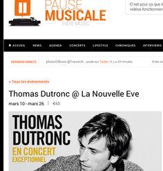 Annonce concert Thomas Dutronc sur Pause Musicale !