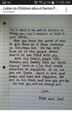 2nd page explaing Santa