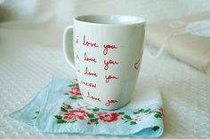 colorful, cup, cute, girly, i love you, mug