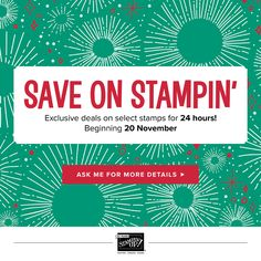 Save on selected Stampin' UP! stamp sets, tools and embellishments during out Online Extravaganza Sale! Plus receive a free gift if you order from me Nov. Stampin Up, Cyber Monday Specials, Cupcake Card, One Sheet Wonder, Boat Covers, One Day Only, Fun Fold Cards, Holidays 2017, Some Cards