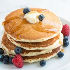 Essential Pancake Recipe-Uses vanilla (Could possibly skip that or use less next time)