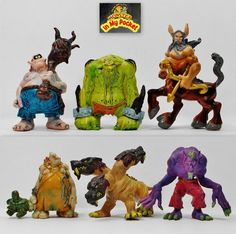 Monster In My Pocket - 2nd Gen 2006 - The Beasts - Complete set of 6 figures