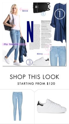 """""""My everyday style"""" by odeya-rotem ❤ liked on Polyvore featuring 7 For All Mankind, adidas Originals and MICHAEL Michael Kors"""