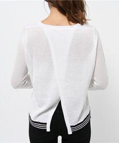 JOURNAL STANDARD WOMEN'S(ジャーナルスタンダードウィメンズ)の【rag&bone/ラグ&ボーン】nikki split back pullover:メッシュプルオーバー #(ニット/セーター) 詳細画像