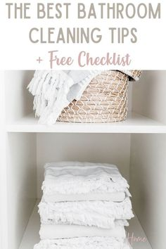 Keeping your bathroom clean is important that's why you'll love these bathroom cleaning tips. These cleaning tips for bathroom will be just what you need to keep your bathroom clean and clutter-free. Also, download the free bathroom cleaning checklist printable to use during your weekly bathroom cleaning Bathroom Cleaning Checklist, Cleaning Checklist Printable, Cleaning Tips, Cleaning Routines, Fall Cleaning, Declutter Your Life, Natural Cleaning Products, Organization Hacks, Organizing