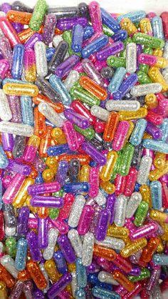 a rainbow of glitter pills. Food Wallpaper, Pastel Wallpaper, Wallpaper Iphone Cute, Aesthetic Iphone Wallpaper, Cute Wallpapers, Bedroom Wall Collage, Photo Wall Collage, Picture Wall, Rainbow Aesthetic