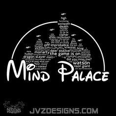 Etsy listing at https://www.etsy.com/listing/179029586/mind-palace-white-text-a-sherlock-disney