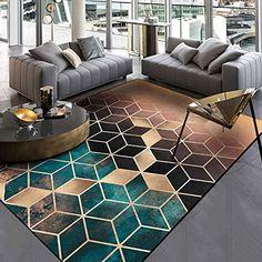 Cuisine & Maison dusg Tapis Design Moderne Rug Salon tradtionnel Ligne Bleue 140 × 200cm