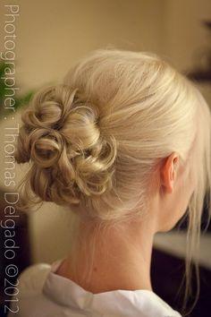 The Parlour - Ukiah, CA, United States. Bridal hair 09/22/12