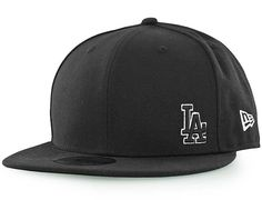 Los Angeles Dodgers Flawless Black 59Fifty Fitted Baseball Cap by NEW ERA x MLB
