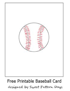 Baseball Card Template Directions  Customize Blank Card