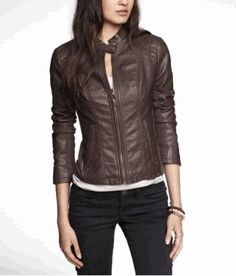 (MINUS THE) LEATHER DOUBLE PEPLUM MOTO JACKET | EXPRESS