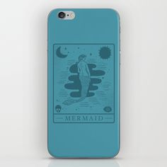 Buy mermaid iPhone Skin by thewellkeptthing. Worldwide shipping available at Society6.com. Just one of millions of high quality products available.
