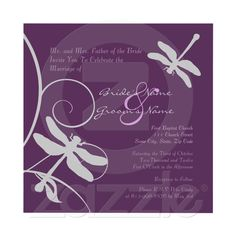 Purple and Silver Dragonfly Wedding