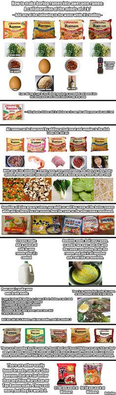 Ways to upgrade ramen.  yes, I still eat ramen sometimes.  dont judge me.