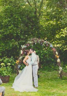 43 Outdoor Summer Wedding Arches | HappyWedd.com