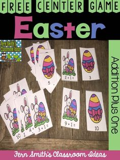 Free Easter Center Game Addition Plus One #Free