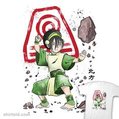 The Power of the Earth Kingdom | Shirtoid #anime #avatarthelastairbender #drmonekers #film #movies #toph #tophbeifong #tvshow