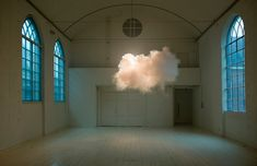 Nimbus. Berndnaut Smilde.  A cloud in a room.